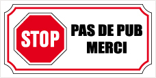 STOP PUB sticker decal.