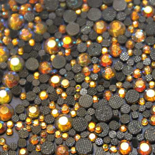 1000 Strass s6 hotfix 2,1mm couleur n°205 AB or