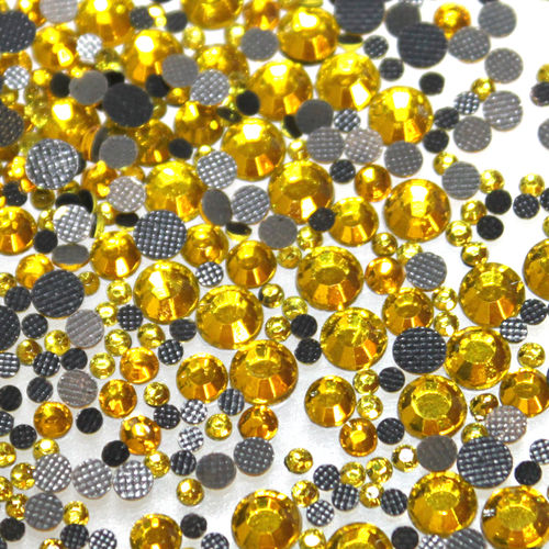 1000 Strass s6 hotfix 2,1mm couleur n°111 jaune