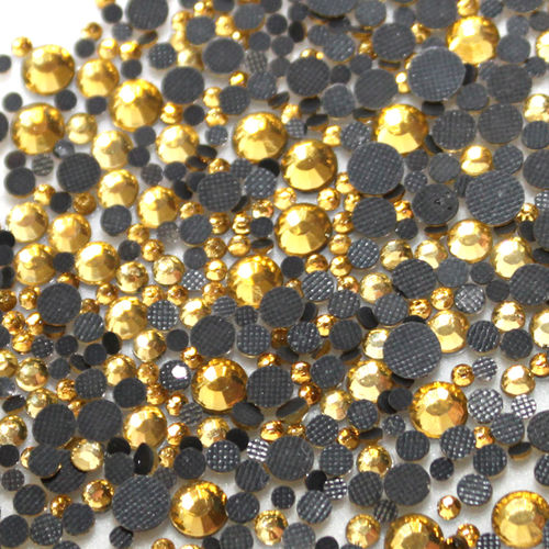 1000 Strass s6 hotfix 2,1mm couleur n°113 gold or clair