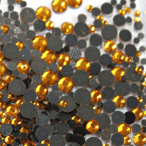 1000 Strass s6 hotfix 2,1mm couleur n°114 or gold