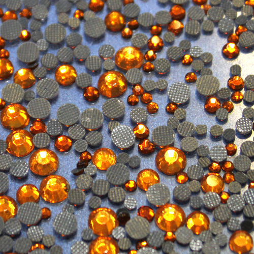 1000 Strass s6 hotfix 2,1mm couleur n°115 topaz cuivre