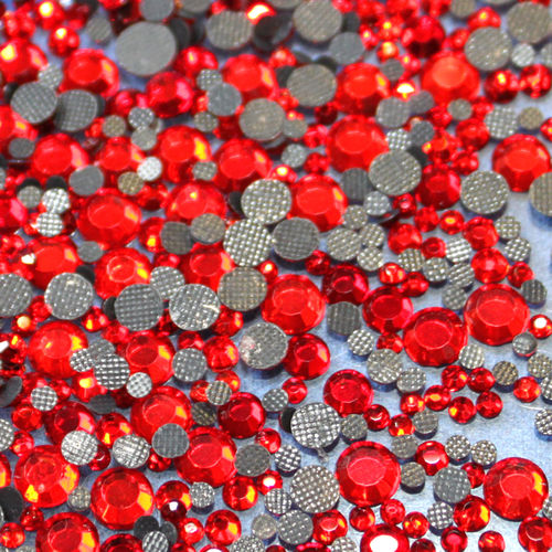 1000 Strass s6 hotfix 2,1mm couleur n°125 rouge