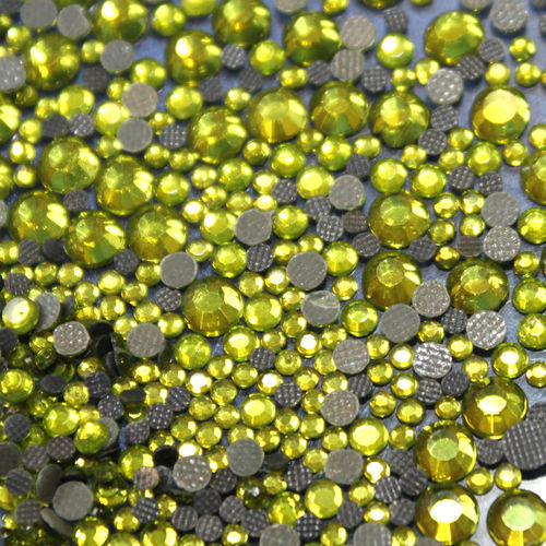 1000 Strass s6 hotfix 2,1mm couleur n°135 vert olive