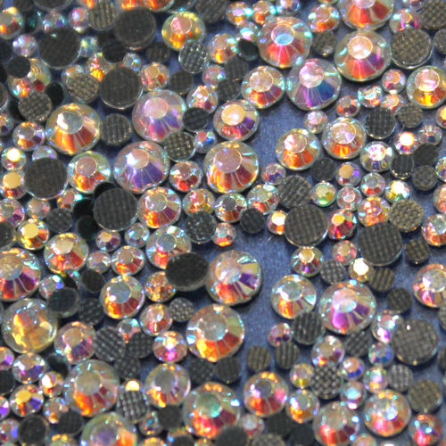 1000 Strass s6 hotfix 2,1mm couleur n°201 AB crIstal