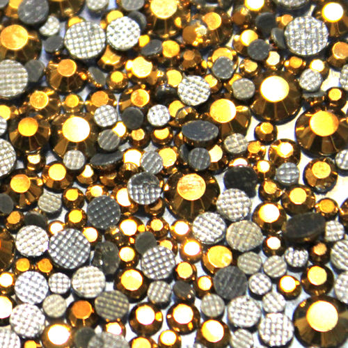 1000 Strass s6 hotfix 2,1mm couleur n°210 AH hématite or gold