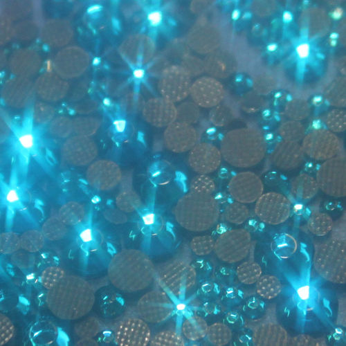 500 Strass s10 hotfix 2,9 mm couleur n°107 bleu turquoise