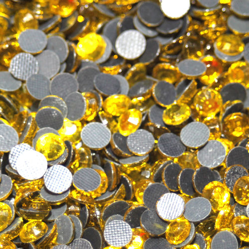 100 Strass s20 hotfix 4,8 mm couleur n°111 jaune