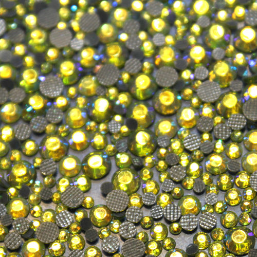 500 Strass s10 hotfix 2,9 mm couleur n°207 AB vert