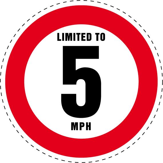 SAFIRMES 2 Stickers Limitation Cercle Rouge //125 mm//inch=5 Vitesse 45