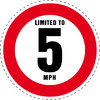 Limited to 5 MPH Vehicle Speed Restriction Bumper Printed Sticker Car Van 10cm