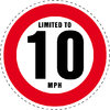 Limited to 10 MPH Vehicle Speed Restriction Bumper Printed Sticker Car Van 10cm