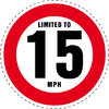 Limited to 15 MPH Vehicle Speed Restriction Bumper Printed Sticker Car Van 10cm