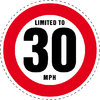 Limited to 30 MPH Vehicle Speed Restriction Bumper Printed Sticker Car Van 10cm