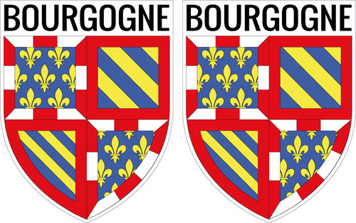 2 X escutcheon - ABOURGOGNE STICKER BLAZON