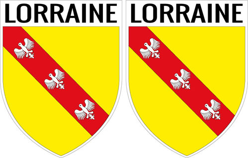 2 X escutcheon - LORRAINE STICKER BLAZON